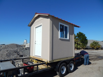 Prefab security booth-building