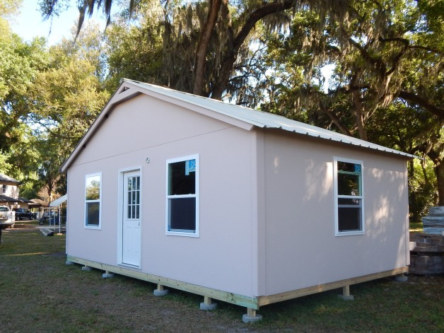 Stucco finish storage shed Jacksonville