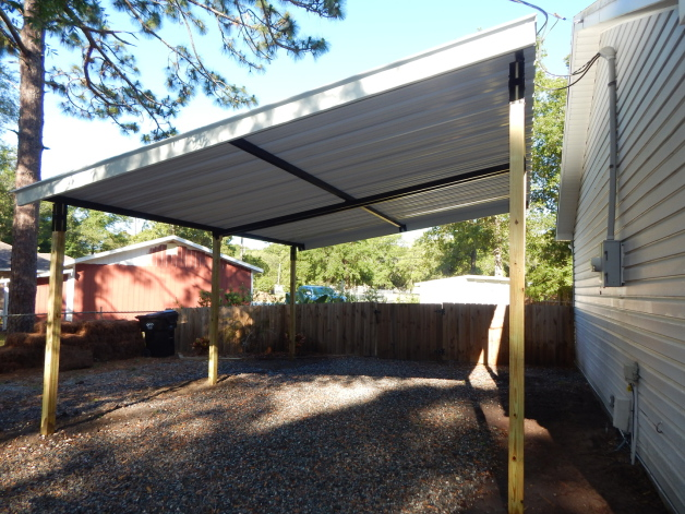 Carport-steel frame