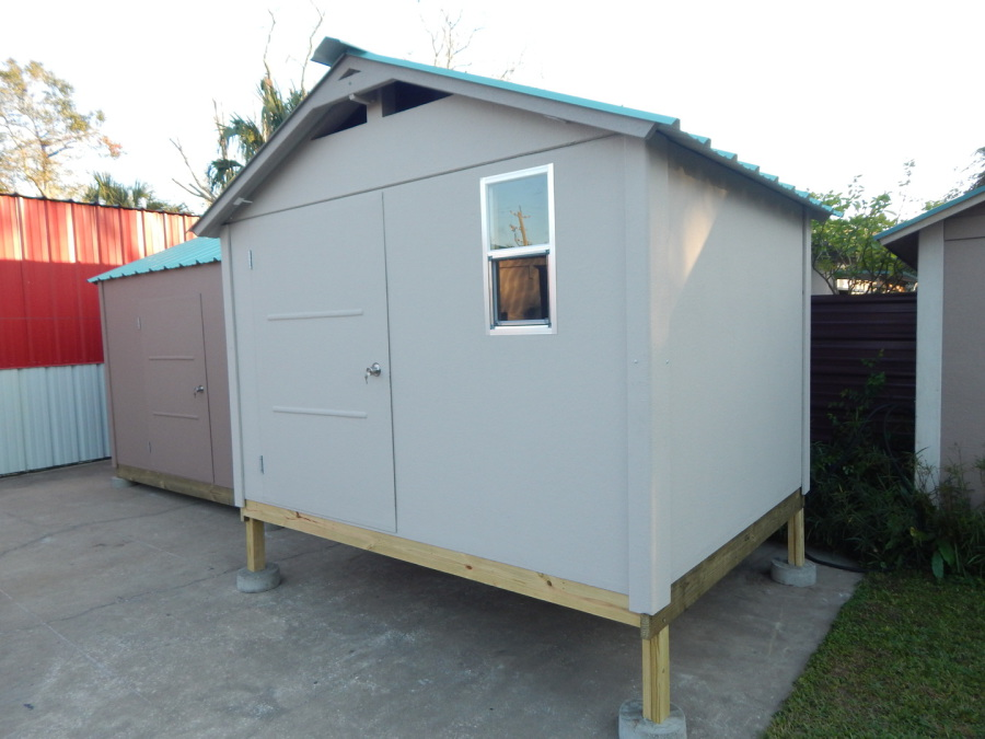 10x8 Shed On 24 Foot Pads